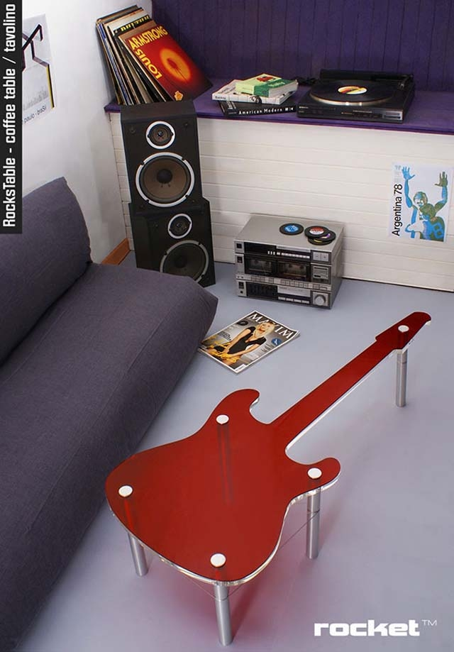 Innovative Series Of Funky Coffee Tables With Regard To Unique Guitar Coffee Table (View 47 of 50)