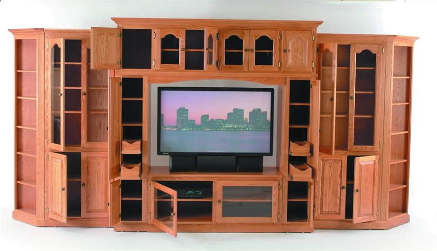 Innovative Series Of Glass TV Cabinets With Doors Regarding Wood Tv Stand With Glass Doors (Image 30 of 50)