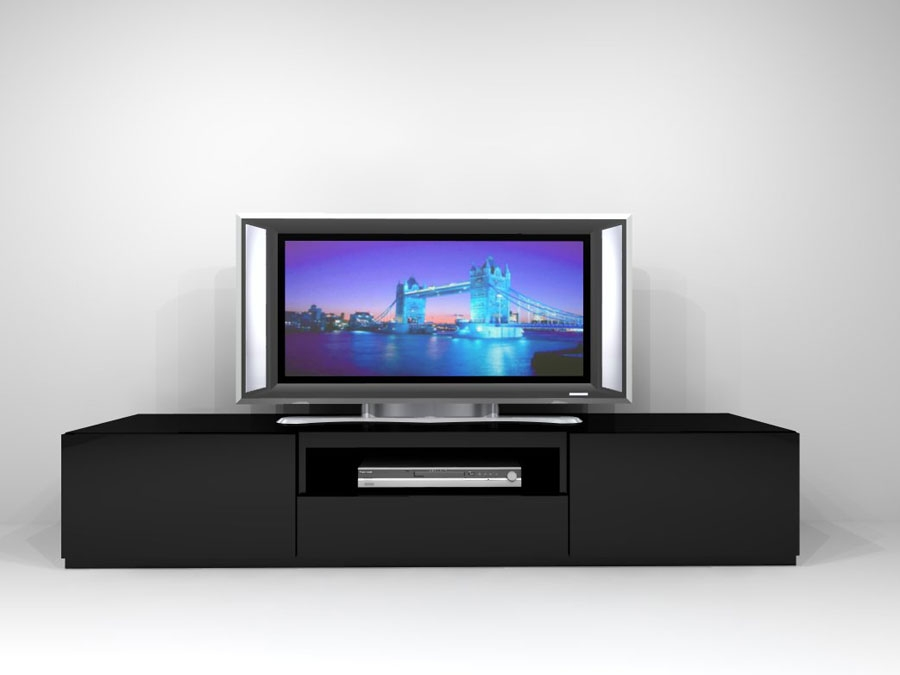 Innovative Series Of Long Black TV Stands With Regard To Brilliant Long Black Tv Unit Black Tv Stand Dream Home Designer (View 2 of 50)