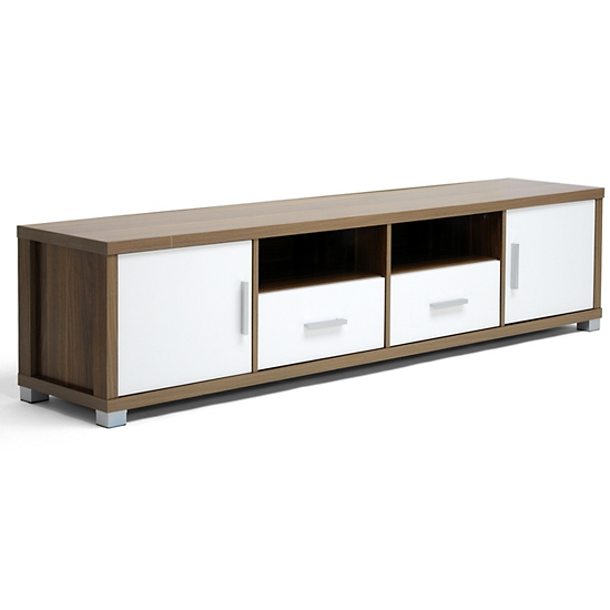 Innovative Series Of Long White TV Cabinets Intended For Modern Tv Stands With Storage (Image 28 of 50)