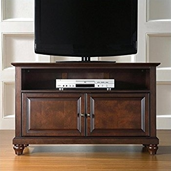 Innovative Series Of Mahogany TV Stands Furniture Intended For Amazon Crosley Furniture Cambridge 42 Inch Tv Stand Vintage (Image 27 of 50)