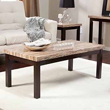 Innovative Series Of Marble Coffee Tables Throughout Amazon Carmine Faux Marble Coffee Table Kitchen Dining (View 40 of 50)