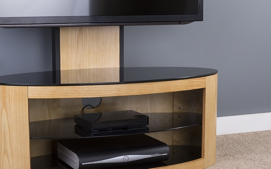 Innovative Series Of Oak Veneer TV Stands For Buy Avf Buckingham 1000 Tv Stand With Bracket Free Delivery Currys (Image 30 of 50)