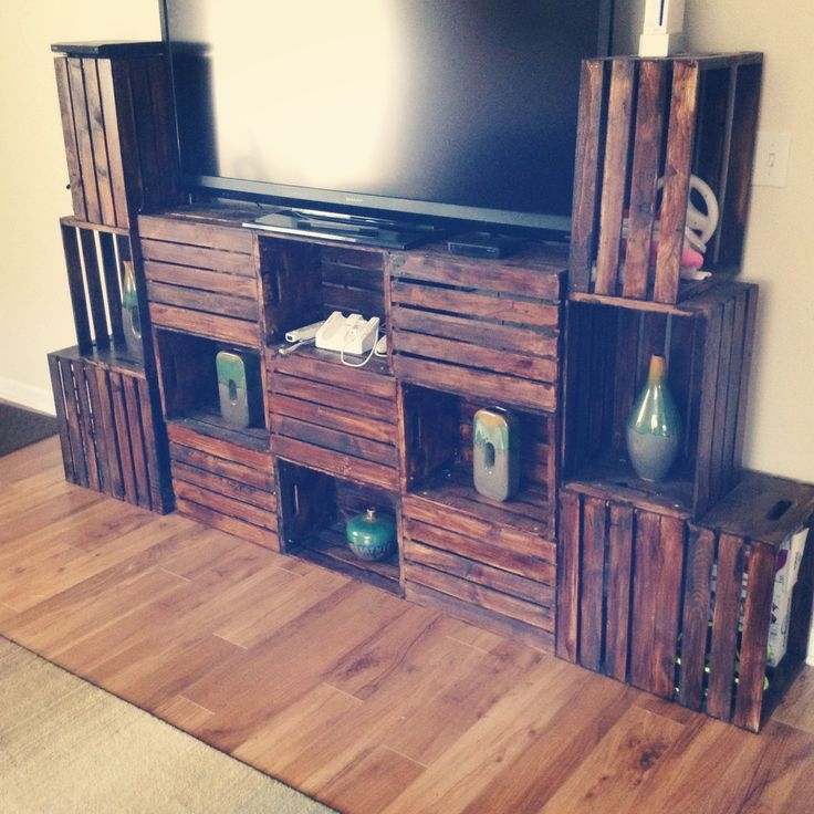 Innovative Series Of Rustic Coffee Table And TV Stands Within Best 25 Dark Wood Tv Stand Ideas On Pinterest Rustic Tv Stands (Image 31 of 50)