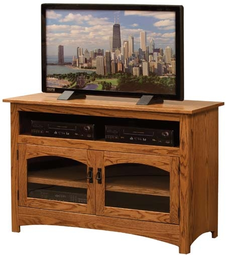 Innovative Series Of Solid Oak TV Stands In 33 Off Mission Small Tv Stand In Oak Solid Wood Amish Furniture (View 30 of 50)