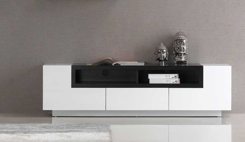 Innovative Series Of White Contemporary TV Stands For Luciana White Wenge Modern Tv Stands Contemporary Tv Stands (Image 31 of 50)