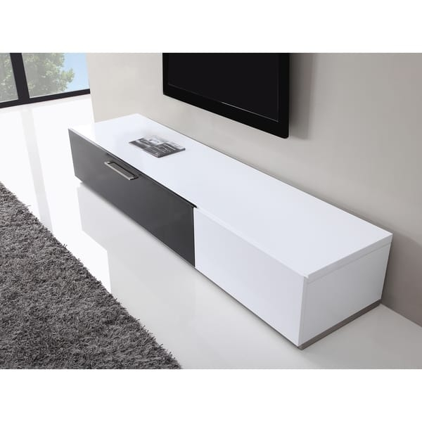 Innovative Series Of White Modern TV Stands With B Modern Producer White Black Modern Tv Stand With Ir Glass (Image 28 of 50)