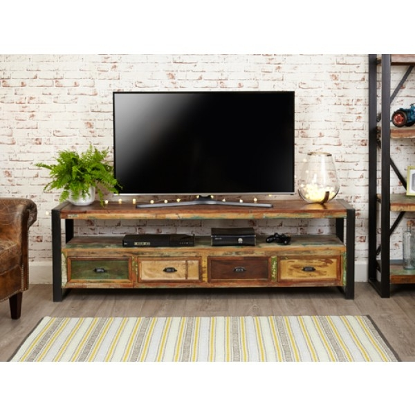 Innovative Series Of Widescreen TV Cabinets With Regard To Industrial Style Widescreen Tv Cabinet Element One House (View 46 of 50)