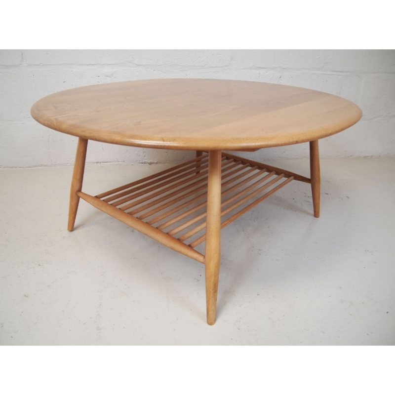 Innovative Top Beech Coffee Tables Inside Ercol Vintage Beech Elm Coffee Table On Splayed Legs Vinterior (Image 30 of 50)