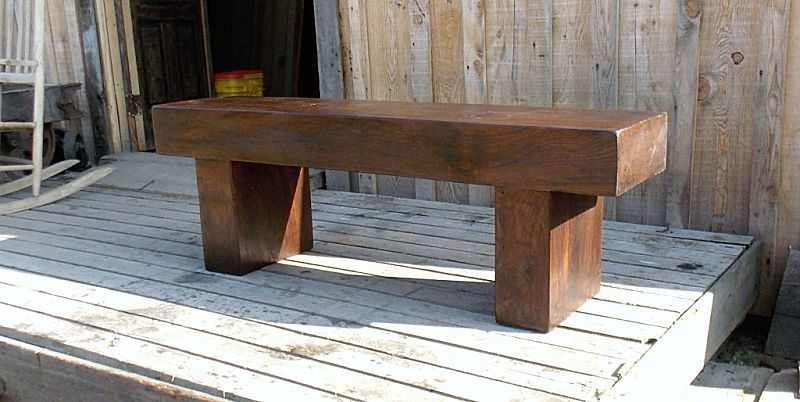 Innovative Top Bench TV Stands In Custom Massive Walnut Timber Benchcoffee Tabletv Stand Pauls (Image 33 of 50)
