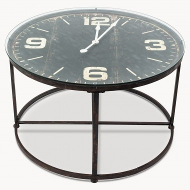 Innovative Top Clock Coffee Tables Round Shaped Inside Tables One World (View 40 of 50)