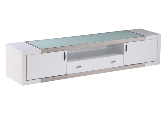Innovative Top Contemporary White TV Stands Regarding Tv Stand Franco White (View 24 of 50)