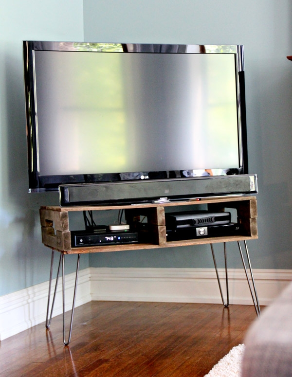 Innovative Top Hairpin Leg TV Stands Within 13 Diy Plans For Building A Tv Stand Guide Patterns (Image 30 of 50)