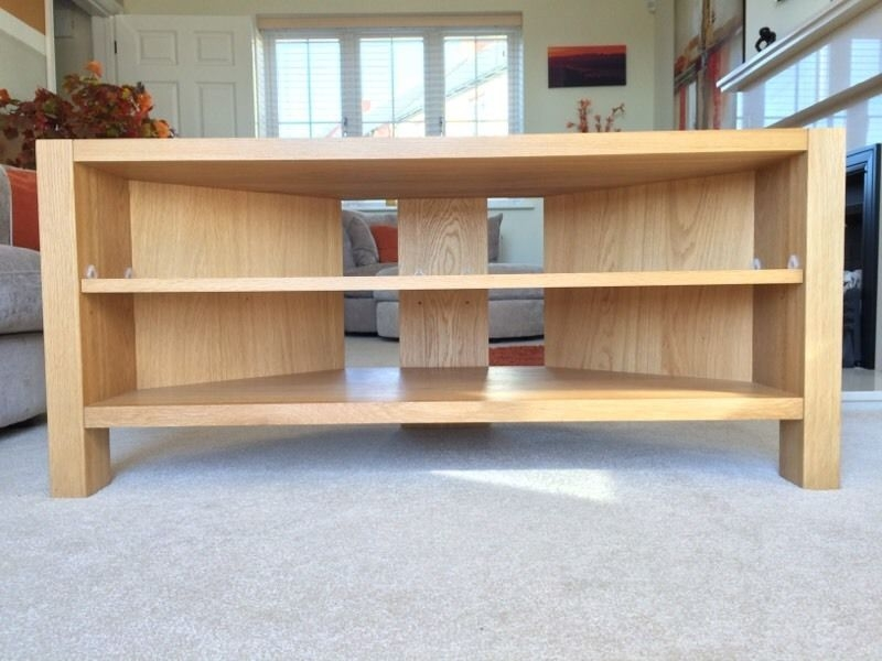 Innovative Top Light Oak Corner TV Stands With Regard To Light Oak Media Unit Top Gami Atlanta Light Oak Tv Unit With (View 12 of 50)