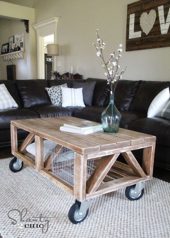 Innovative Top Low Industrial Coffee Tables  Inside Living Room Best Round Coffee Table With Wheels Cool Glass For (Image 28 of 40)