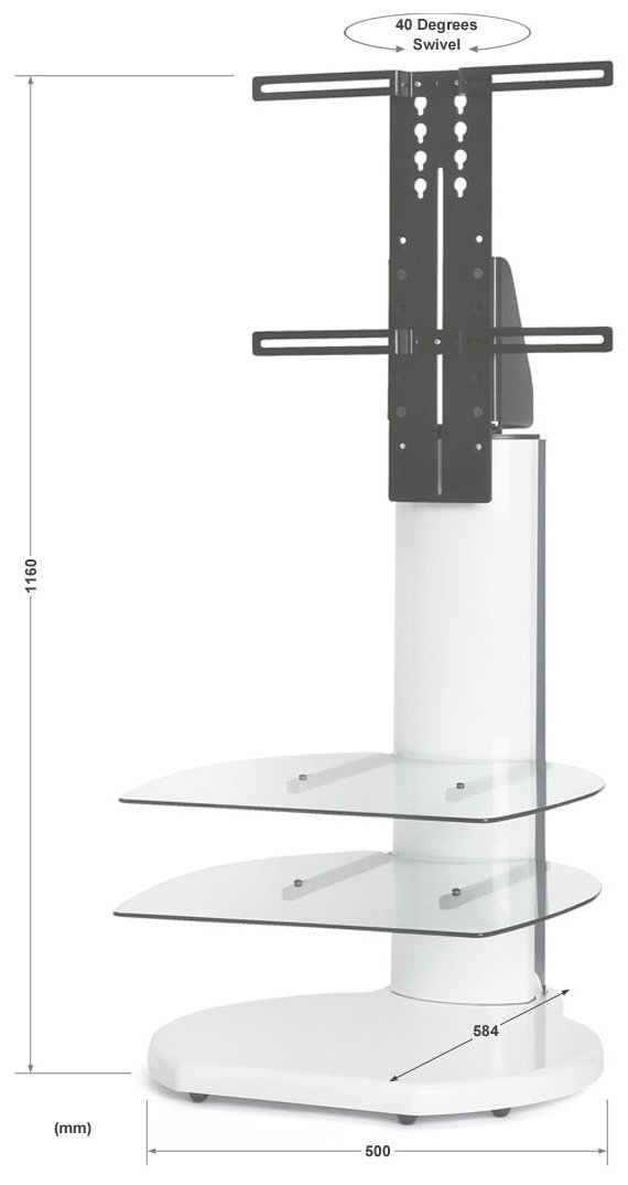 Innovative Top Off Wall TV Stands Regarding Off The Wall Origin Ii S4 Silver Tv Stands (Image 30 of 50)