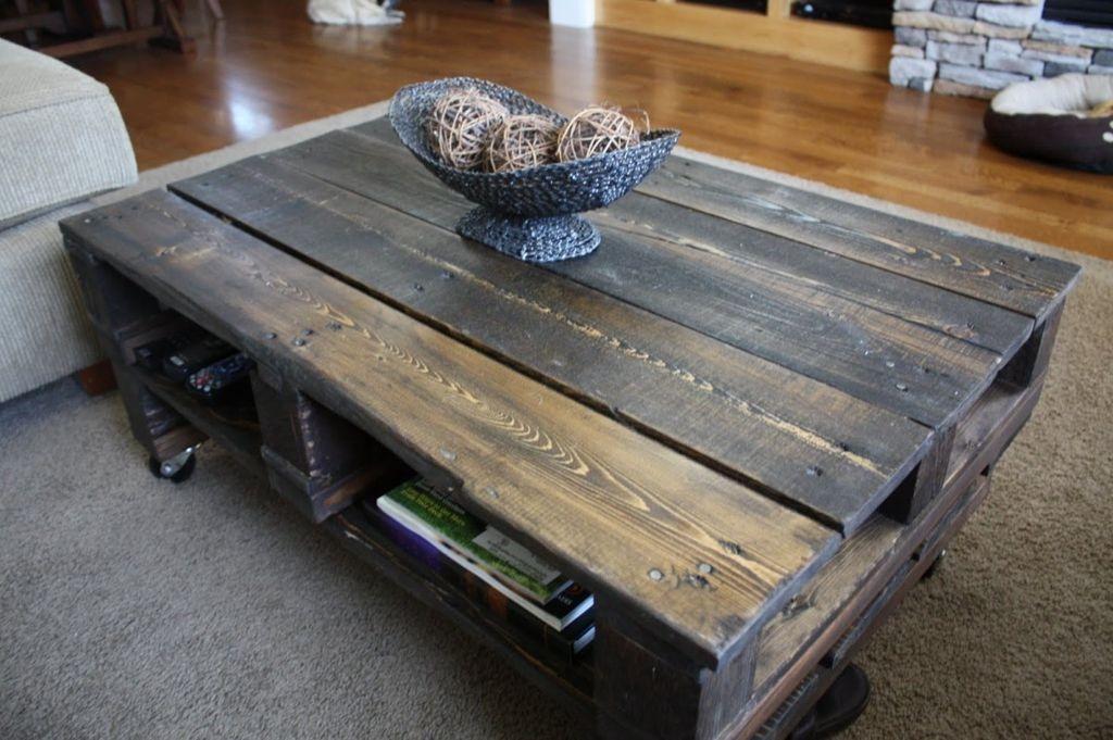 Innovative Top Rustic Storage DIY Coffee Tables Regarding Rustic Narrow Coffee Table Plans (Image 31 of 50)