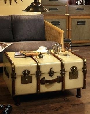 Innovative Top Steamer Trunk Stainless Steel Coffee Tables Intended For Trunks As Coffee Tables Blackbeardesignco (Image 34 of 50)