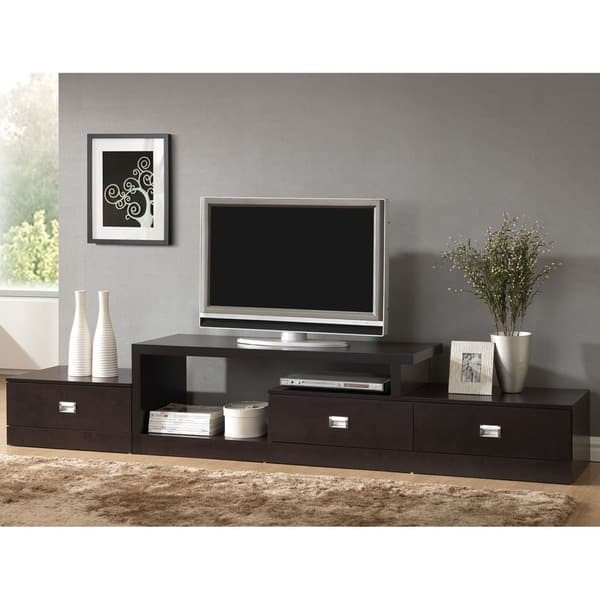 Innovative Top Vizio 24 Inch TV Stands Regarding Contemporary Dark Brown Wood Tv Stand Baxton Studio Free (Image 33 of 50)