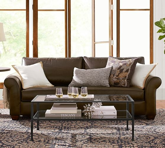Innovative Trendy Antique Glass Pottery Barn Coffee Tables For Tanner Rectangular Coffee Table Bronze Finish Pottery Barn (Image 33 of 50)