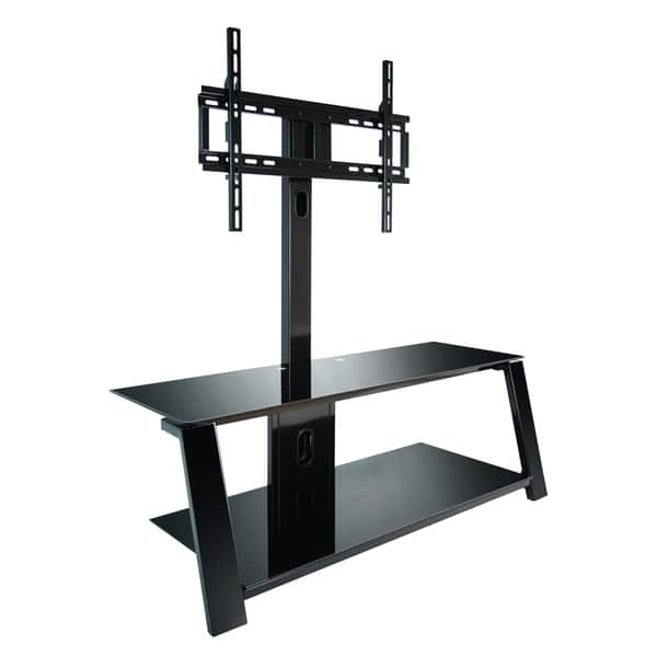 Innovative Trendy Bell'O Triple Play TV Stands Intended For Bello Tp4444 Triple Play 44 Inch Black Tv Stand For Tvs Up To  (Image 34 of 50)