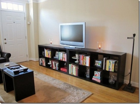 Innovative Trendy Bookshelf And TV Stands In Our House Bathroom Living Room Tours Daily Garnish (Image 30 of 50)