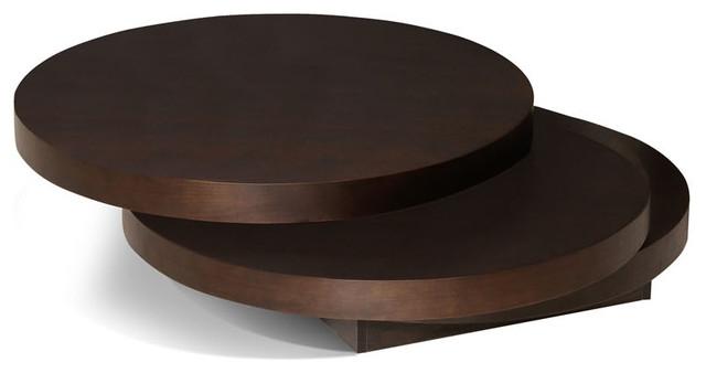 Innovative Trendy Dark Wood Round Coffee Tables For Coffee Table Moes Home Torno Round Coffee Moes Home Torno Round (View 4 of 50)