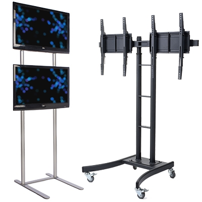 Innovative Trendy Dual TV Stands Within Monitor Stands Universal Flat Screen Tv Mounts (Image 30 of 50)