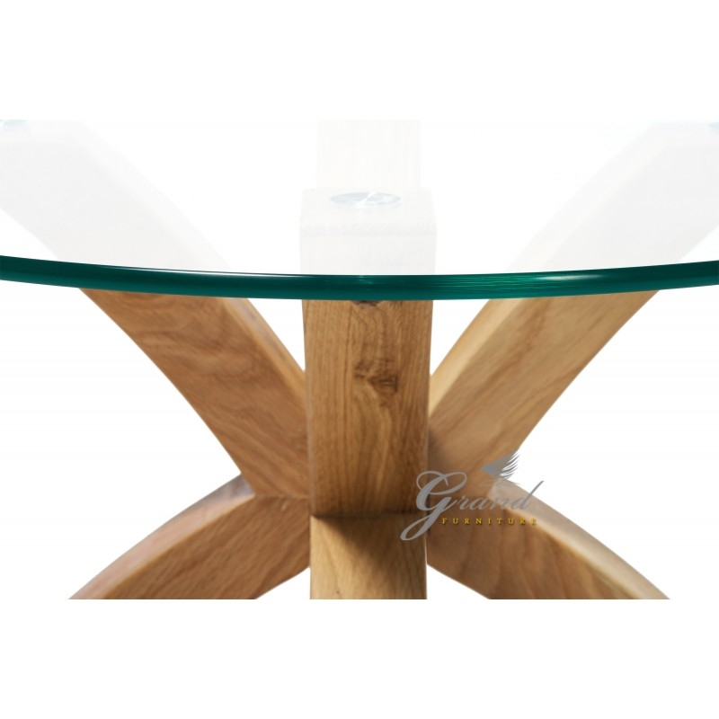 Innovative Trendy Glass And Oak Coffee Tables Throughout Phoenix Solid Oak Coffee Table With Glass Top (Image 34 of 50)