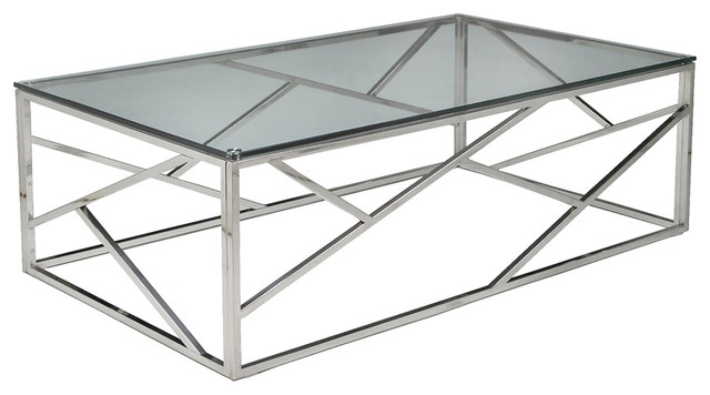 Innovative Trendy Glass Steel Coffee Tables For Contemporary Steel Coffee Table Design (Image 34 of 50)