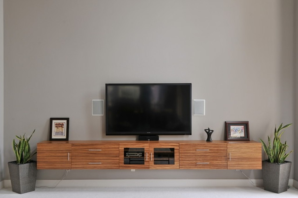 Innovative Trendy Grey Wood TV Stands In Floating Tv Stand Living Room Furniture Tv Stands Fascinating (Image 39 of 50)