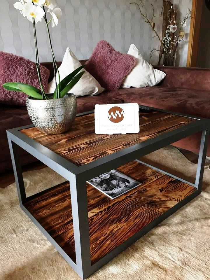 Innovative Trendy Industrial Style Coffee Tables For Industrial Style Pallet Wood Coffee Table 99 Pallets (View 7 of 50)