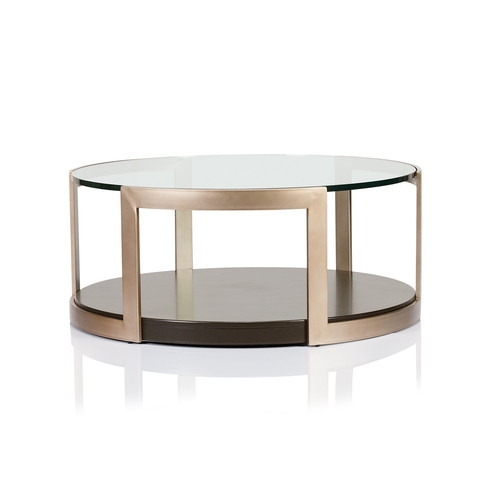 Innovative Trendy Large Glass Coffee Tables Regarding Coffee Table Manhattan Glass Top Round Coffee Table Large Round (Image 34 of 50)