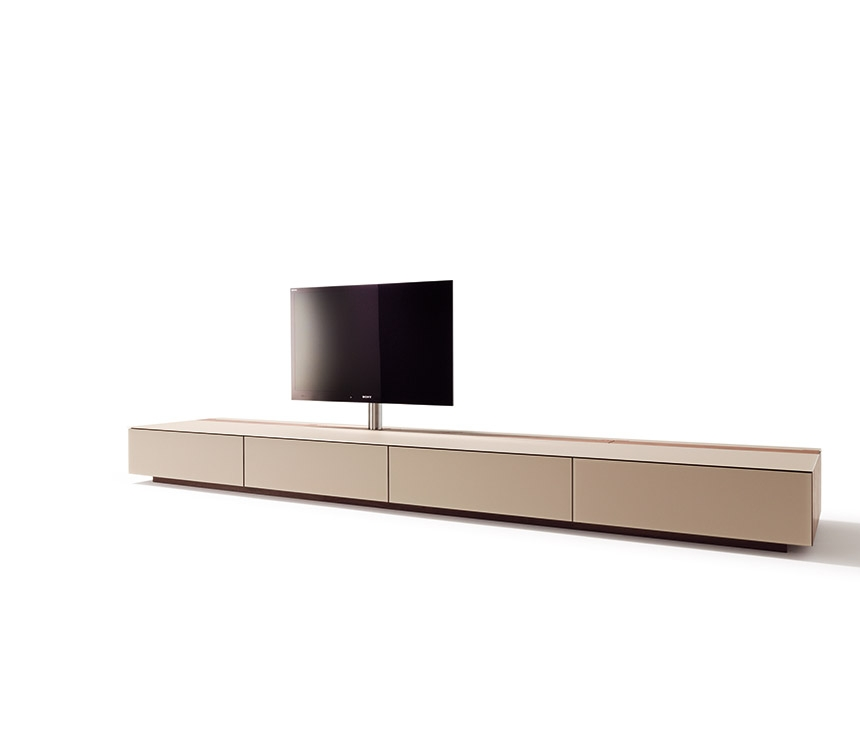 Innovative Trendy Long Low TV Cabinets Throughout Luxury Rotating Flat Screen Tv Cabinet Cubus Wharfside (Image 29 of 50)