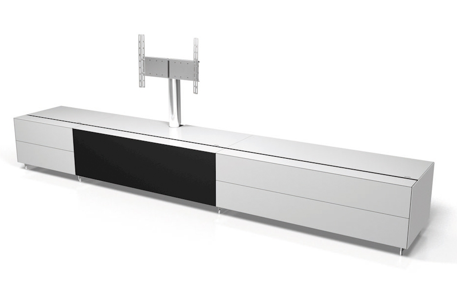 Innovative Trendy Long White TV Cabinets Regarding Spectral Cocoon Co1001 Gloss White Tv Cabinet W Tv Bracket (Image 29 of 50)