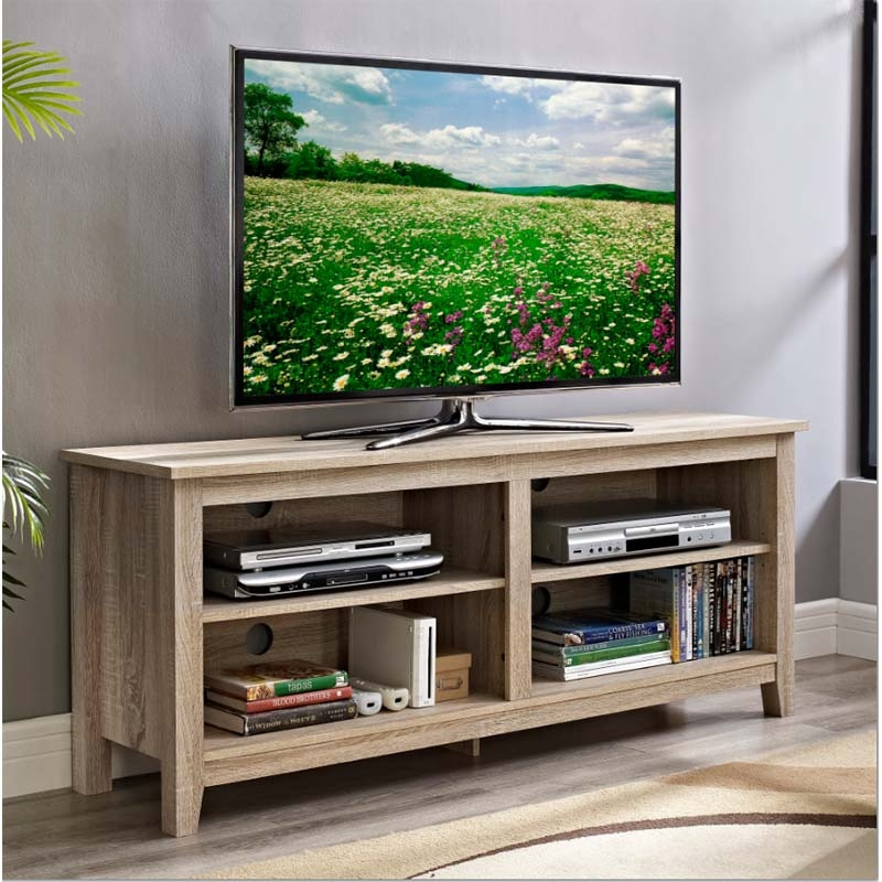 Innovative Trendy Modern TV Stands For 60 Inch TVs Within 60 Inch Tv Stands Simple Living Seneca Black Grey Reclaimed (Image 29 of 50)