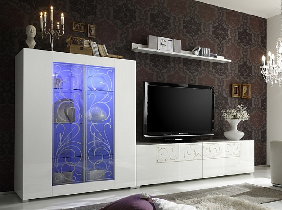 Innovative Trendy Off Wall TV Stands Intended For Padua Modern Tv Stand Lc Mobili Italy  (Image 31 of 50)
