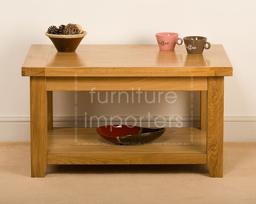 Innovative Trendy Small Coffee Tables With Shelf Within Oak Living Room Tables Oak Living Room Tables Square Coffee (Image 28 of 40)