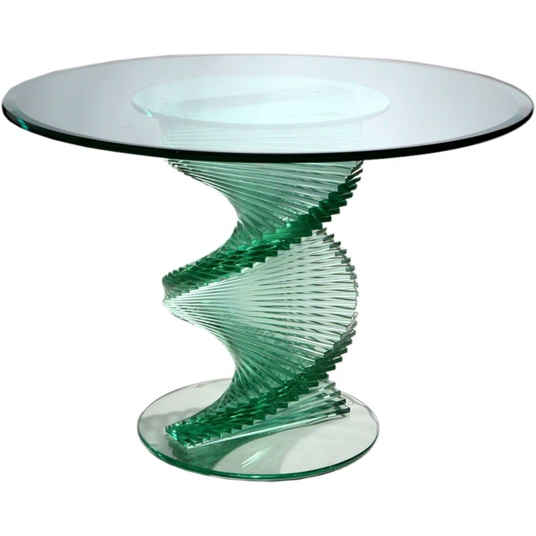 Innovative Trendy Spiral Glass Coffee Table Throughout Glass Spiral Table At 1stdibs (Image 34 of 50)