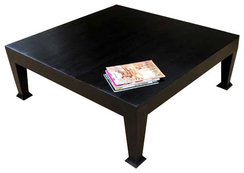 Innovative Trendy Square Black Coffee Tables With Regard To Asphalt Rustic Black Wooden Square Coffee Table Coffee Tables (View 6 of 40)