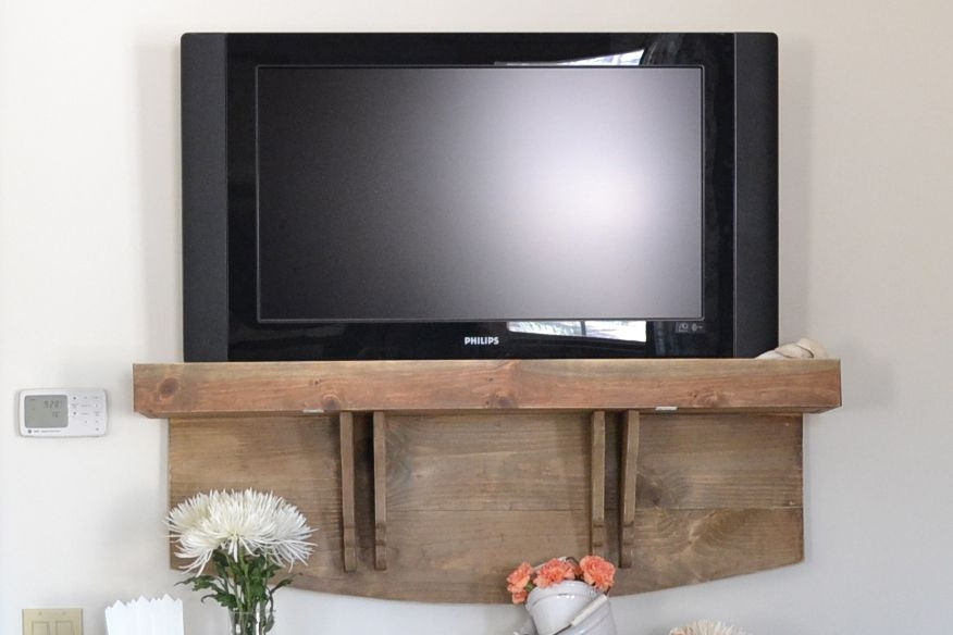 Innovative Trendy TV Stands Over Cable Box In 5 Diy Tv Stands That Hide Ugly Cable Boxes And Wires (Image 29 of 50)