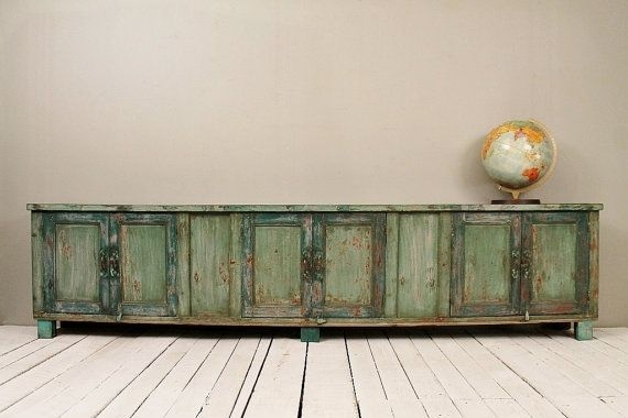 Innovative Trendy Vintage TV Stands For Sale With Living Room Incredible Long And Low Reclaimed Antique Sideboard (Image 30 of 50)