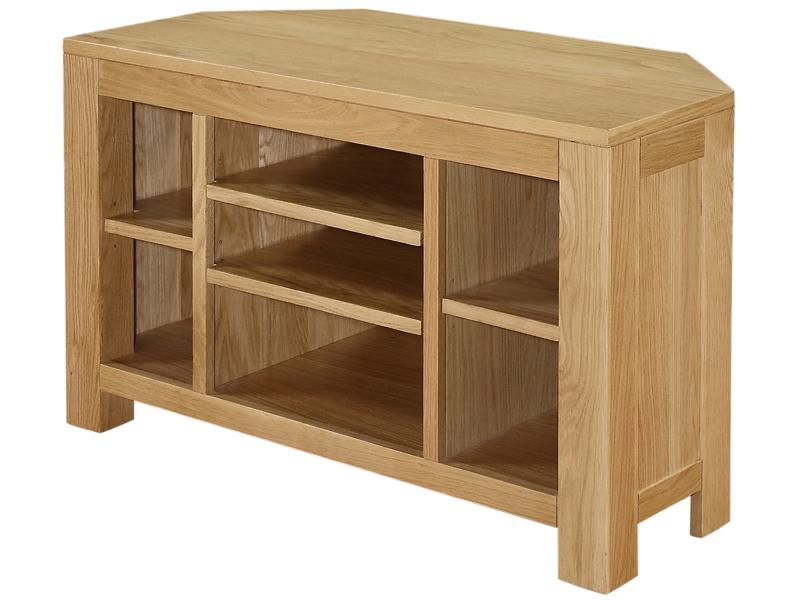 Innovative Unique Corner Oak TV Cabinets Within Boston Oak Corner Tv Unitboston Oak Living Room Solidwood (Image 38 of 50)