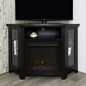 Innovative Unique Corner TV Stands In Amazon We Furniture 48 Corner Tv Stand Fireplace Console (Image 31 of 50)