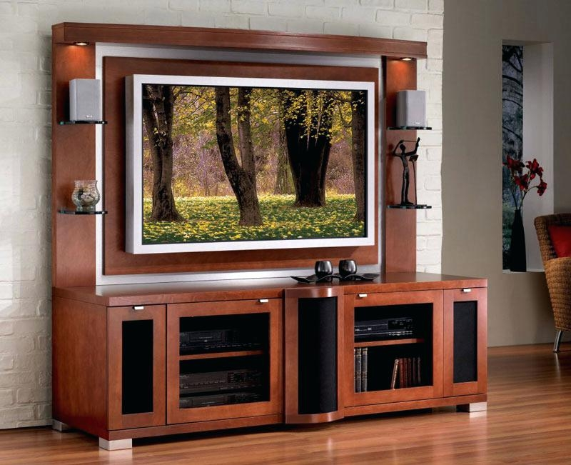 Innovative Unique Double TV Stands Pertaining To Tv Stand With Cabinet Effluvium (Image 32 of 50)
