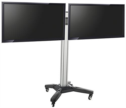 Innovative Unique Dual TV Stands With Side Side Dual Tv Rack Cable Management (Image 31 of 50)