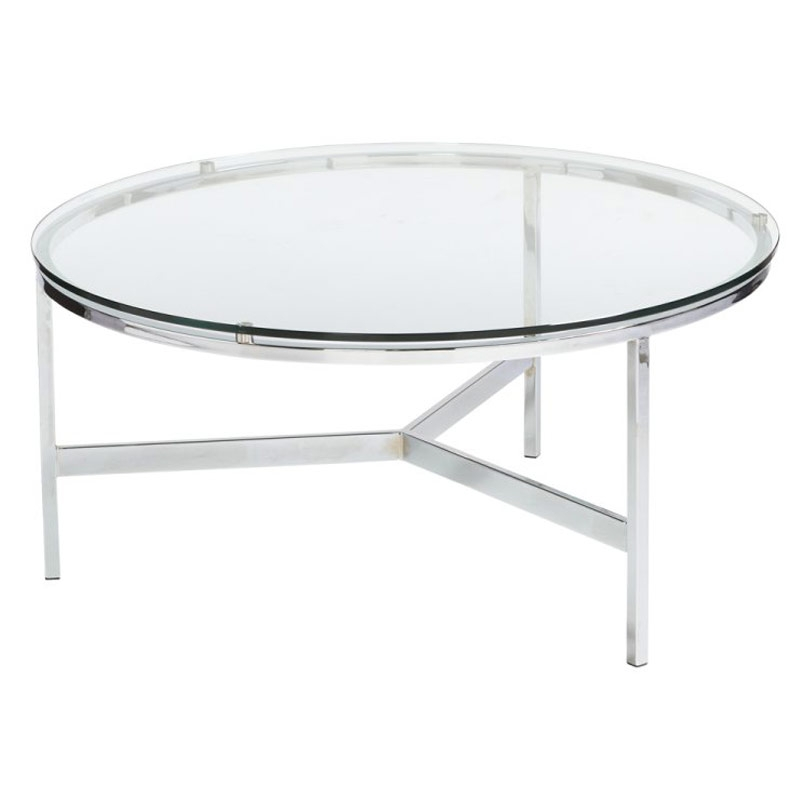 Innovative Unique Metal Coffee Tables With Glass Top With Regard To Round Metal Coffee Table With Glass Top (Image 30 of 50)