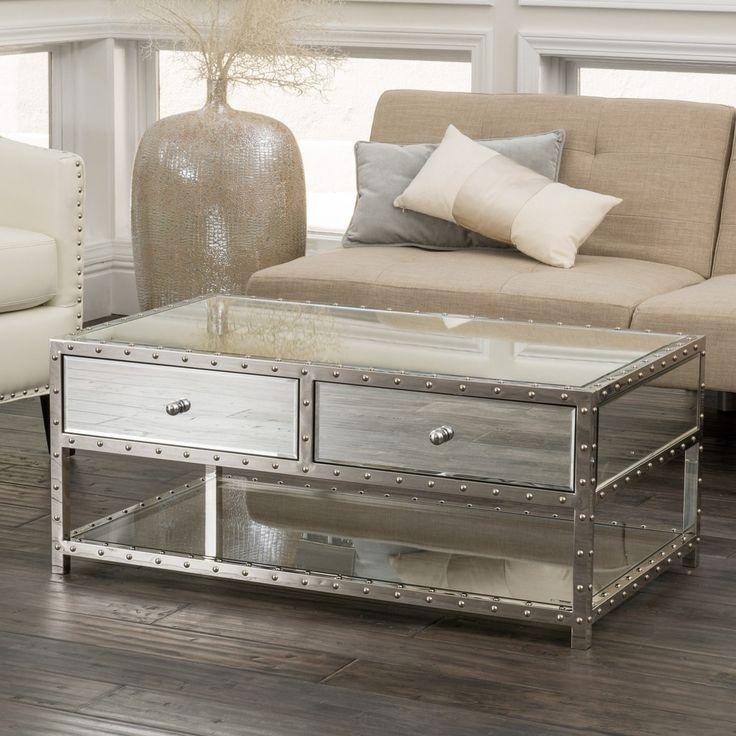 Innovative Unique Mirrored Coffee Tables Regarding Gold Mirrored Coffee Table Idi Design (View 16 of 50)
