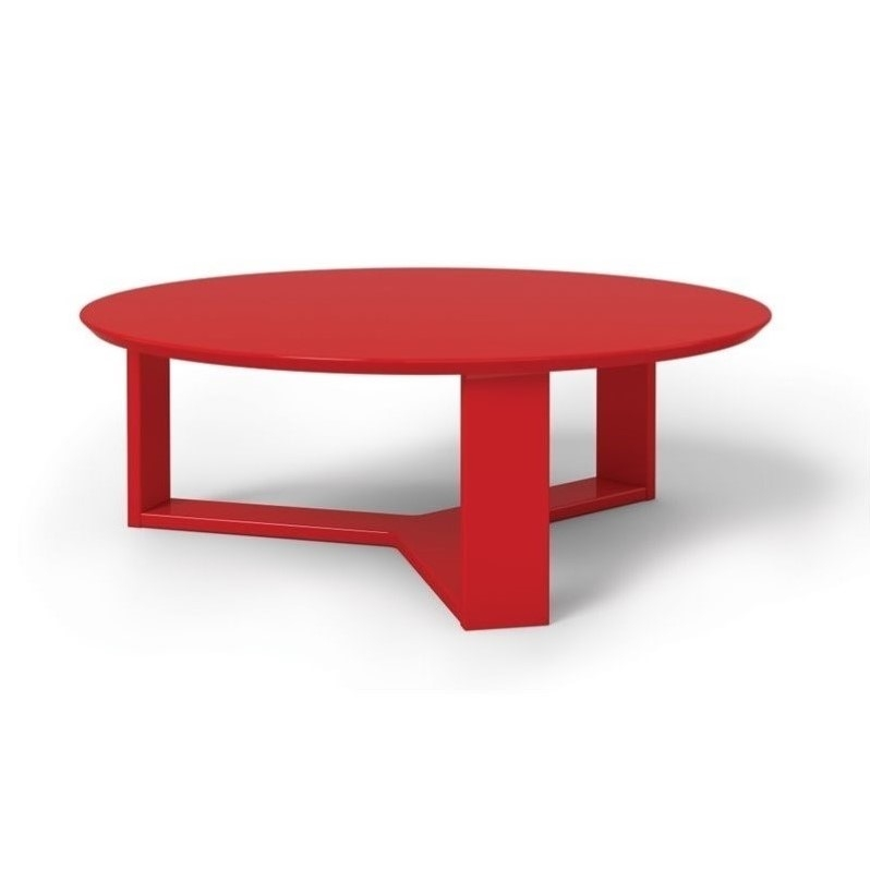 Innovative Unique Red Round Coffee Tables In Manhattan Comfort Madison 10 Series Round Coffee Table In Red (View 46 of 50)