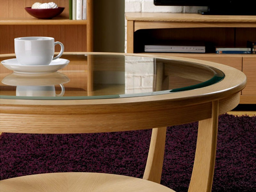 Innovative Unique Round Oak Coffee Tables Intended For The Advantages You Will Get From Oak Coffee Table Thementra (Image 27 of 40)